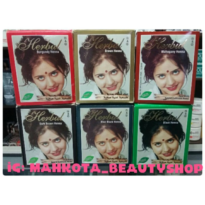 Jual Cat Rambut Henna Herbul Original Mahkota Beauty Shop Tokopedia