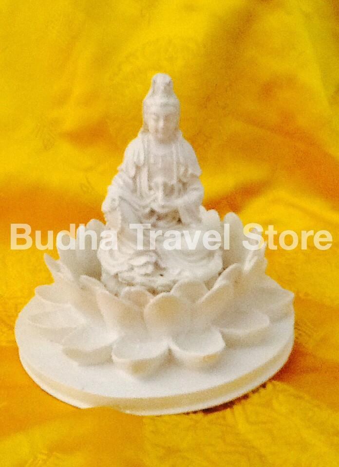 harga Patung dewi kwan im (kuan yin) bersila memegang kendi diatas lotus 6 Tokopedia.com