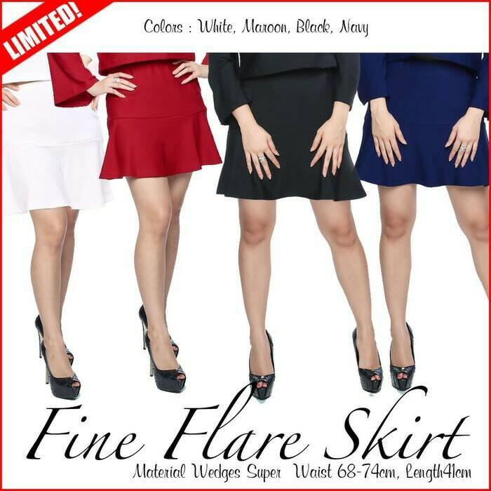 FINE FLARE SKIRT rok kerja rok santai wanita murah