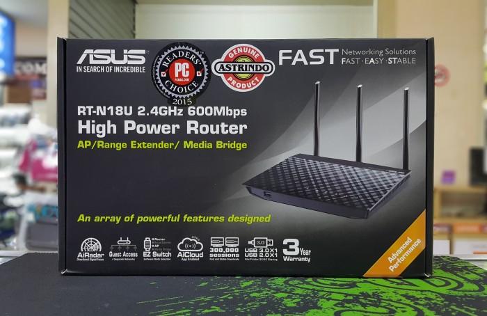 harga Asus rt-n18u wireless - n600 high power router / ap / range extender Tokopedia.com