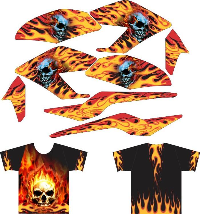 harga Sticker all new cb150r striping + kaos jersey fire skull Tokopedia.com