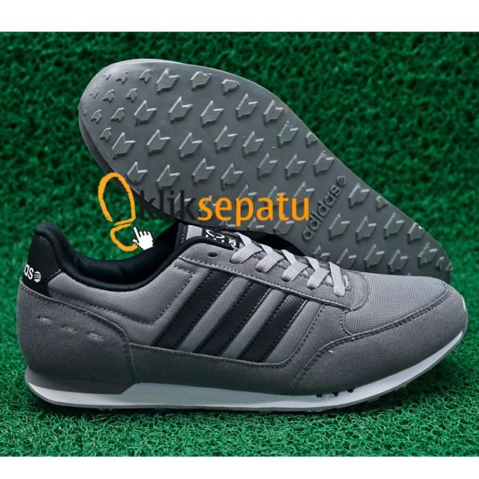 Jual sepatu Adidas Neo   Sepatu Adidas NEO City Racer Abu2 Lis Hitam ... 45f40315b