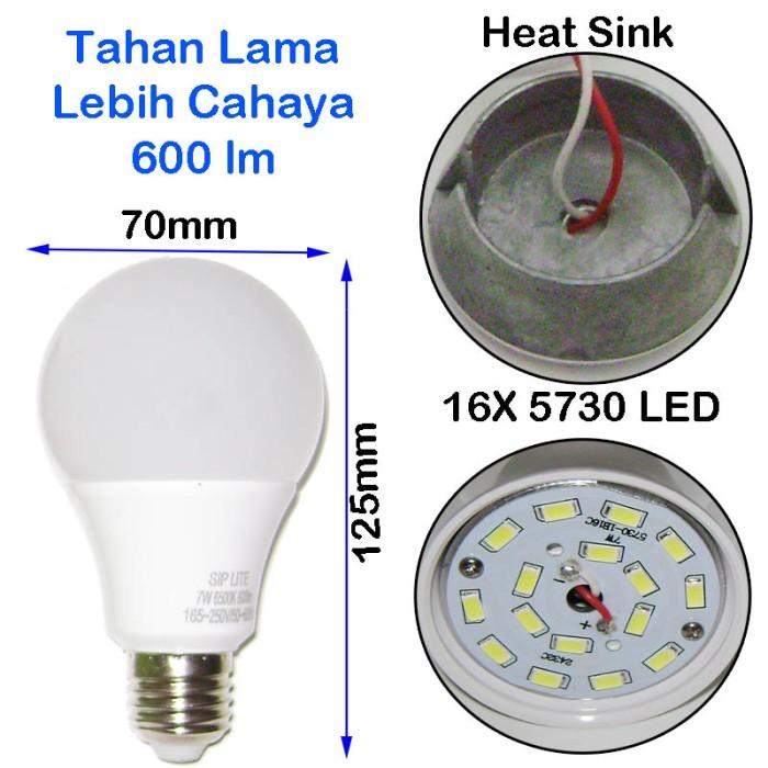 EELIC CAHAYA TERANG BOHLAM LAMPU LED SIP LITE Globe 70mm S-7 Watt