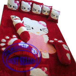 harga Karpet karakter hello kity full set murah karpet bahan rafsur halus Tokopedia.com