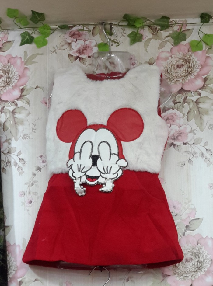 Dress Import Anak / Dress Anak Mickey Mouse / Baju Anak Perempuan
