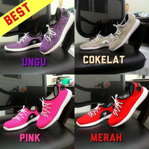 Sepatu Adidas Yeezy Boost Wanita YZY Pink Biru Merah Ungu Murah Grosir 484d67ea78