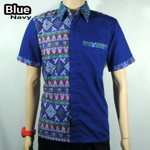 Jual Kemeja Batik Pria Baju Batik Kombinasi Songket