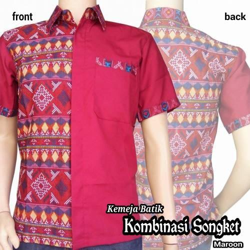Baju Kombinasi Songket Baju Batik Gamis Modern Songket