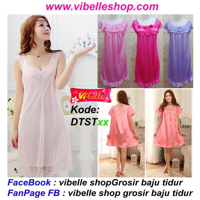 Jual DTSTxx - Vibelle shop grosir baju tidur SATIN piyama baby doll ... 10c512a1d6