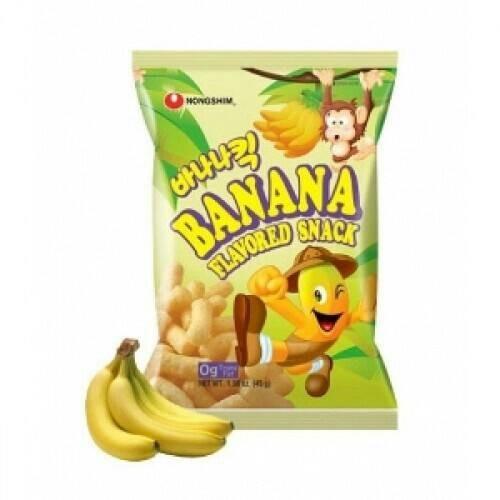 Korean nongshim banana flavored snack snek pisang korea