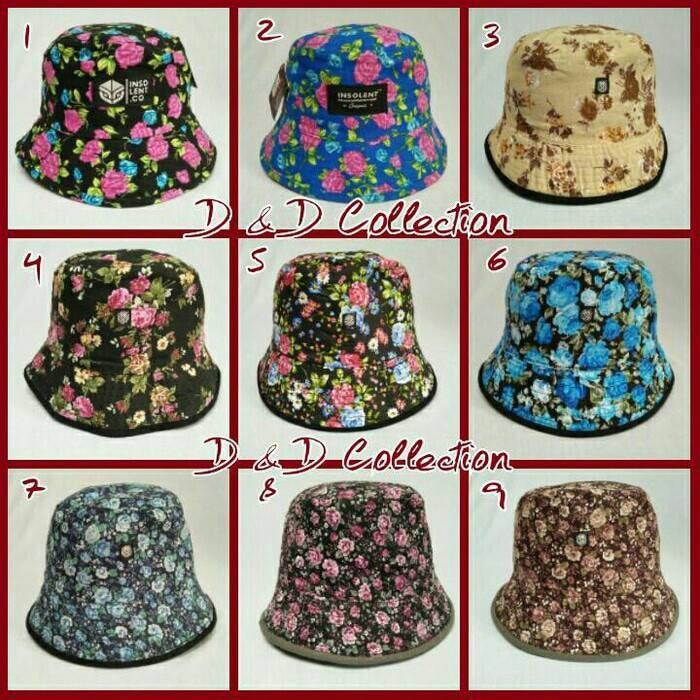Jual Topi Bucket Insolent motif bunga   Topi mancing - Yoi Topi ... 5ffccef78f