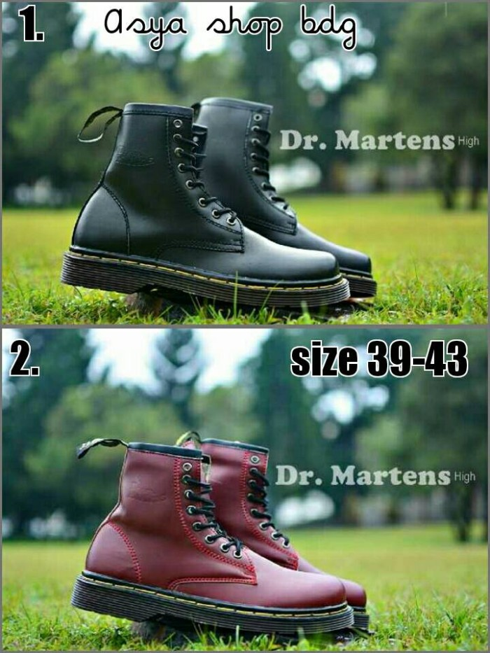harga Sepatu boot bagus murah dr. martens (warna hitam dan maroon) Tokopedia.com