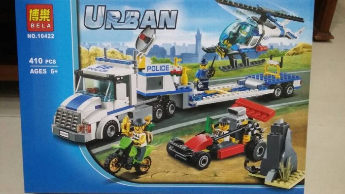 Jual Police Truck Blocks Lego City Urban Helicopter Polisi Mobil