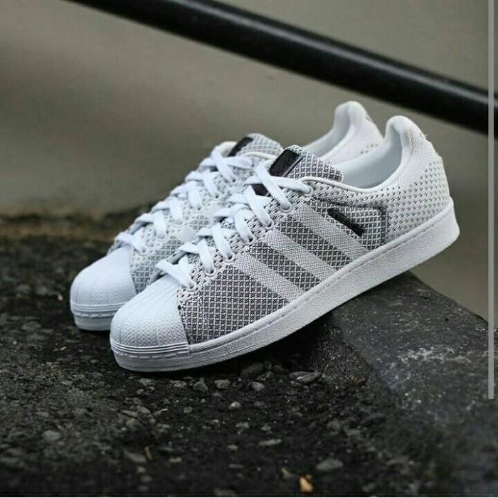 uk availability 1cca7 57c06 Jual Adidas Superstar Weave Pack White Black Grey - Marqces Fashion |  Tokopedia
