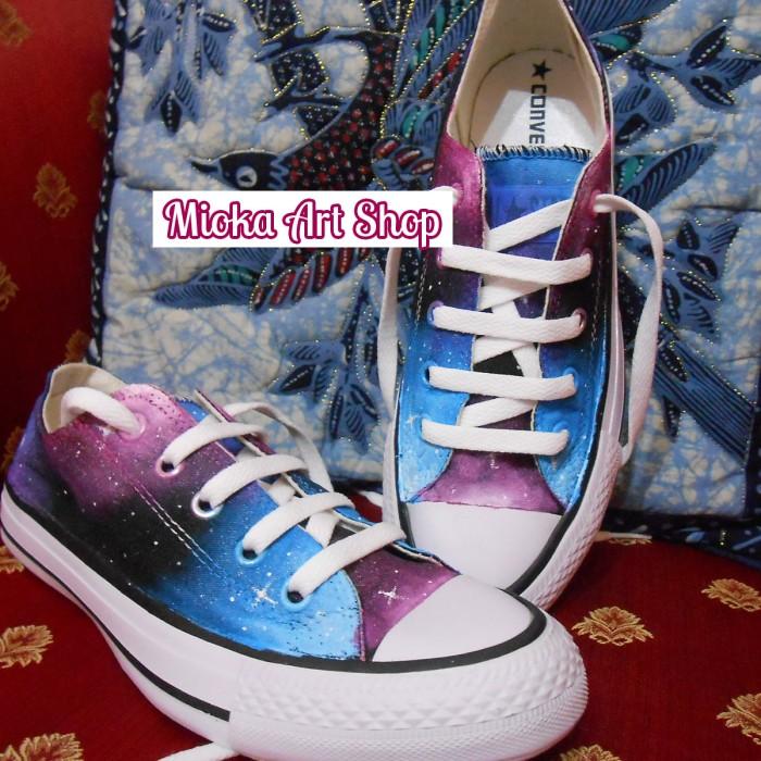 Jual Sepatu Lukis Custom Converse All Star Galaxy - Mioka Art Shop ... 2ba3495035