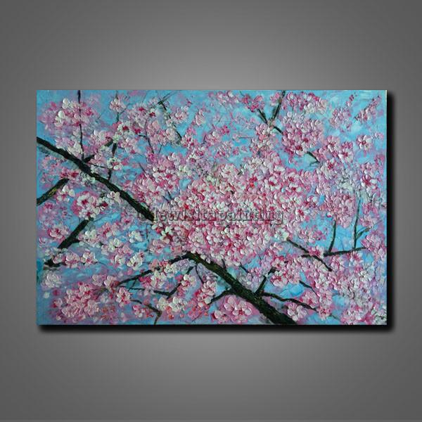 72+ Gambar Lukisan Bunga Sakura Pada Kanvas