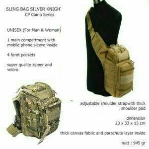 TAS SLEMPANG ARMY OUTDOOR BEST QUALITY YIN QI SHI IMPORT ORIGINAL