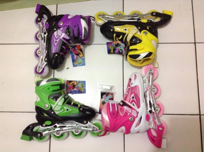 Jual Sepatu roda inline skate power line warna warni - Posko Store ... e17c95ab92