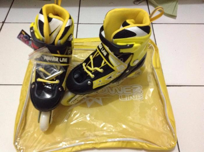 harga Sepatu roda inline skate power line warna kuning s m l grosir Tokopedia.com
