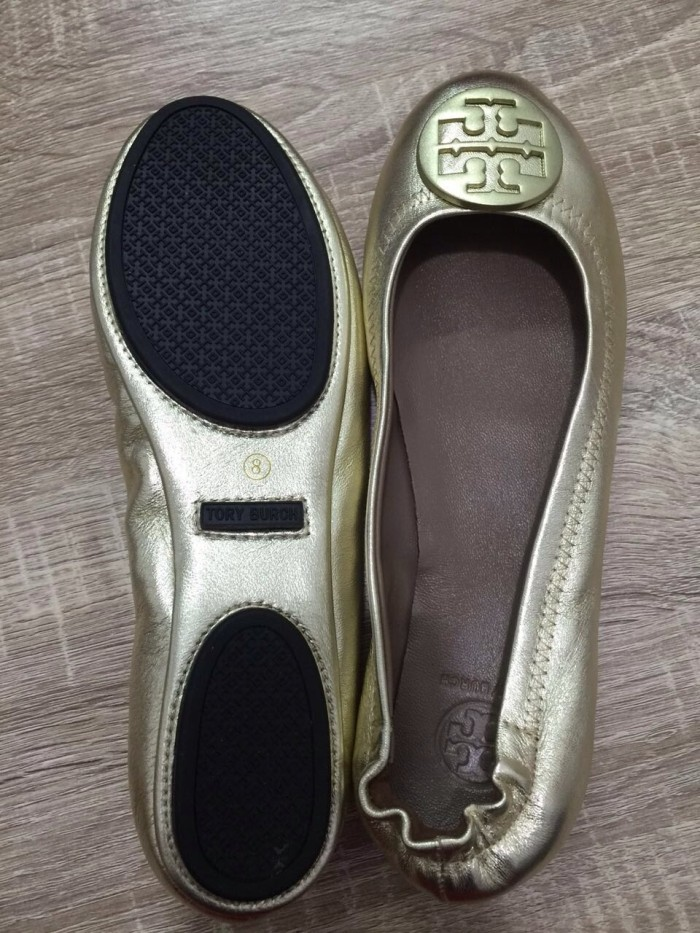 Original Tory Burch Shoes Minnie Leather Travel Ballet Flat ...