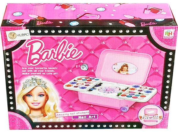 Mainan Alat Make Up anak Barbie The Nail Art (Koper)