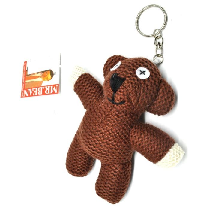 Foto Produk Mr. Bean Teddy Bear Plushy Key Chain / Boneka Gantungan Kunci - Brown dari web komputindo