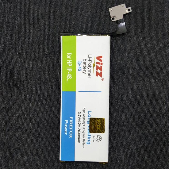 harga Baterai iphone 4s double power battery vizz 2030mah polymer Tokopedia.com
