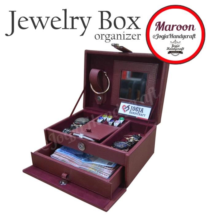 harga Red maroon jewelry box / kotak tempat perhiasan & accesories Tokopedia.com