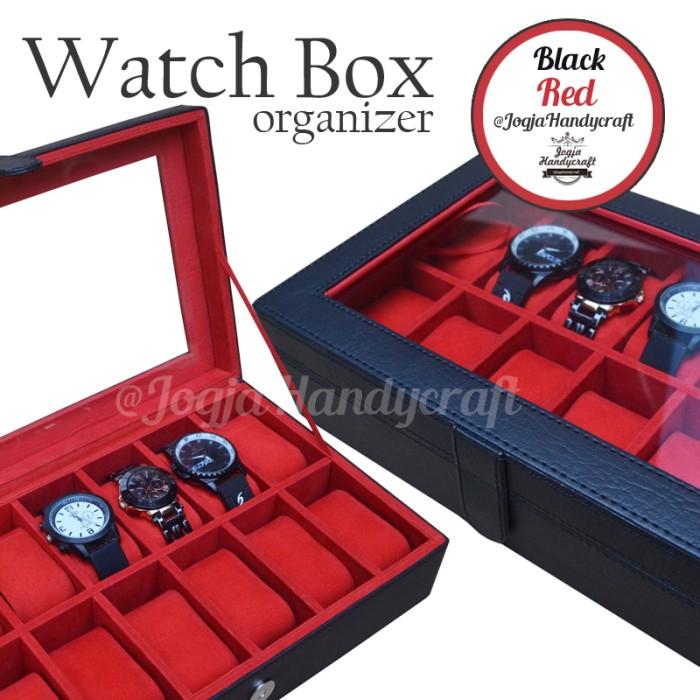Black red watch box / kotak tempat…