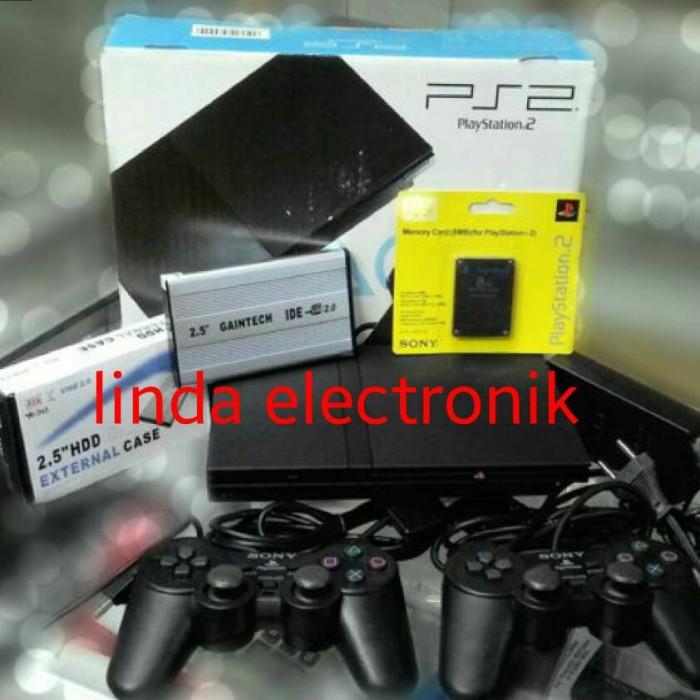 harga Ps 2 slim seri 7 kaset dan hardisk 80gb Tokopedia.com