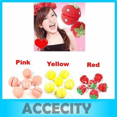 harga Strawberry curler sponge - spon strawberry pengeriting rambut 6 pcs bb Tokopedia.com