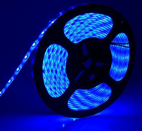 harga Led Strip Flexible Smd 3528 / 2538 Ip44 (mata Kecil Waterproof) Biru Tokopedia.com