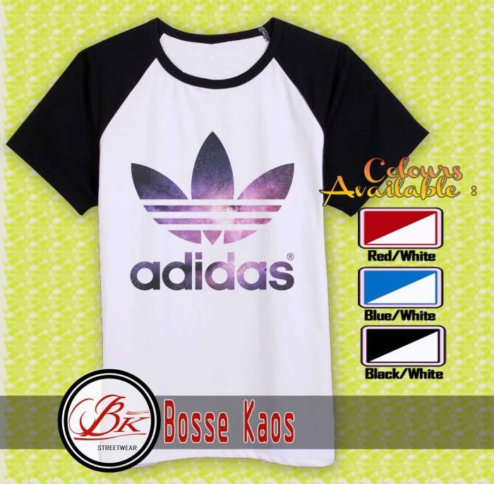 KAOS OBLONG, KAOS DISTRO - KAOS adidas logo galaxy 2