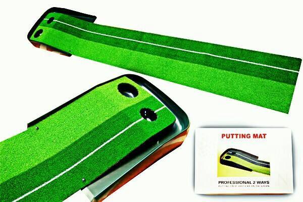 harga Golf putting mat 2 holes Tokopedia.com