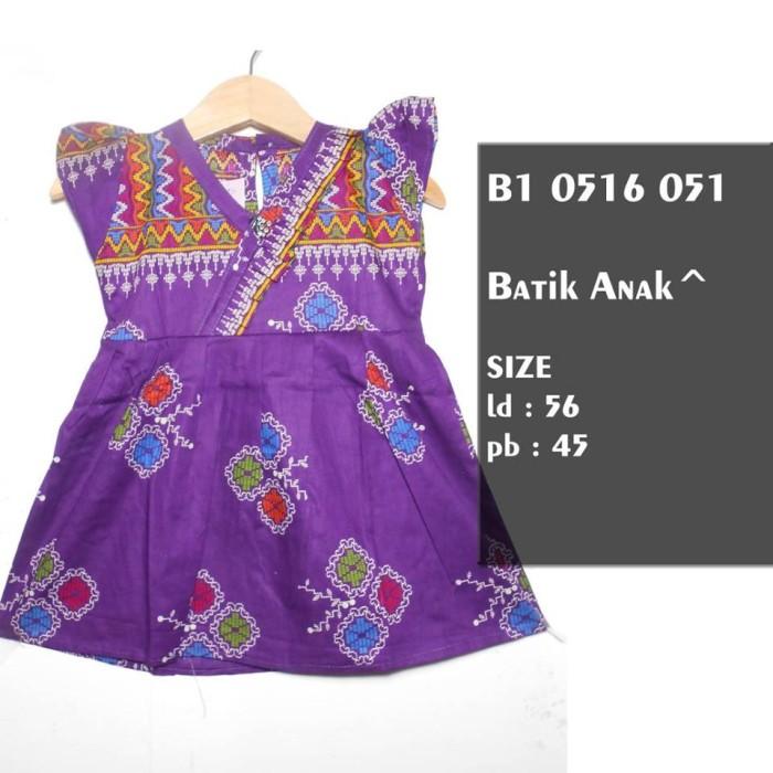 harga Dres batik anak kimono / sek dres dayak / gaun batik anak ungu lucu Tokopedia.com