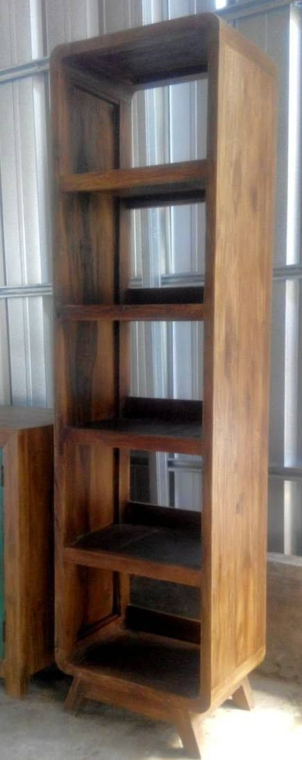 harga Rak buku hias pajangan jengki - jati lawas tua lama - 50x35x182cm Tokopedia.com