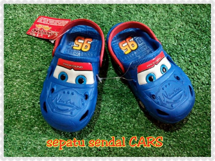 harga Sepatu sendal bayi anak karet cars/sendal bayi anak laki Tokopedia.com