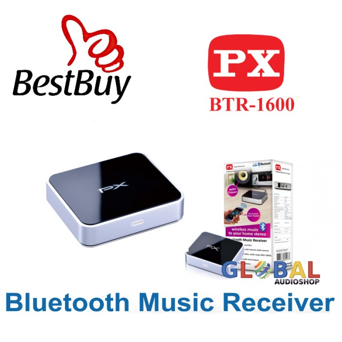 PX Digital Multimedia Bluetooth Music Receiver BTR-1600 Jarak max.10m