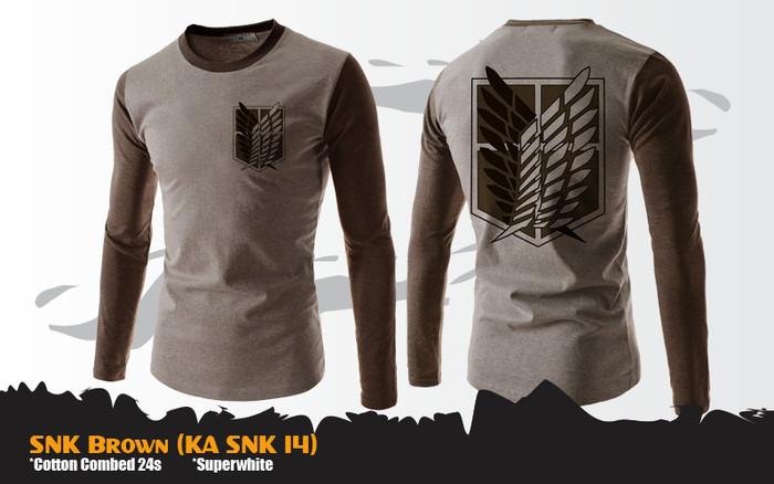 harga Kaos snk attack on titan brown (ka snk 14) Tokopedia.com