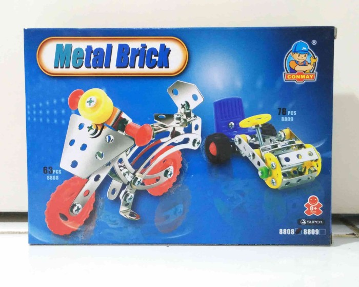 harga Mainan edukatif metal brick kecil / model sepeda motor / model 8808 Tokopedia.com