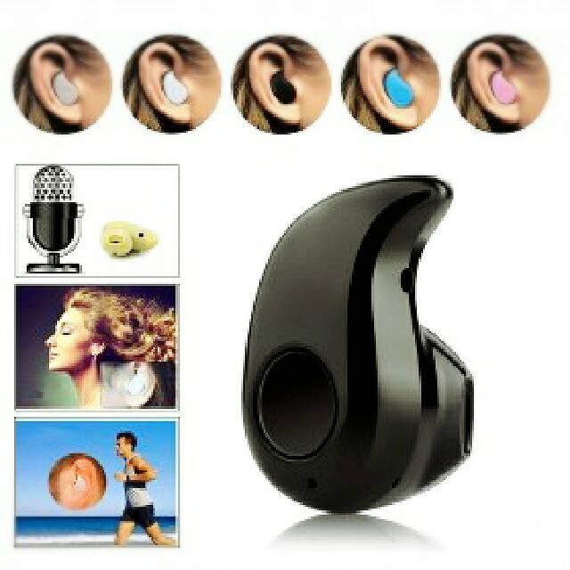 Micro Sport Stereo Bluetooth Earphone Headset S530 Black Hitam