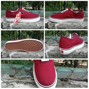 c29b654099 Sepatu Casual Vans Authentic Classic Merah Maroon man cowok pria 39-44
