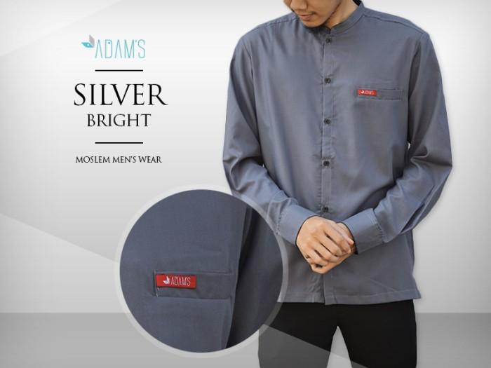 Jual Baju Koko Modern Muslim Pria Silver Bright