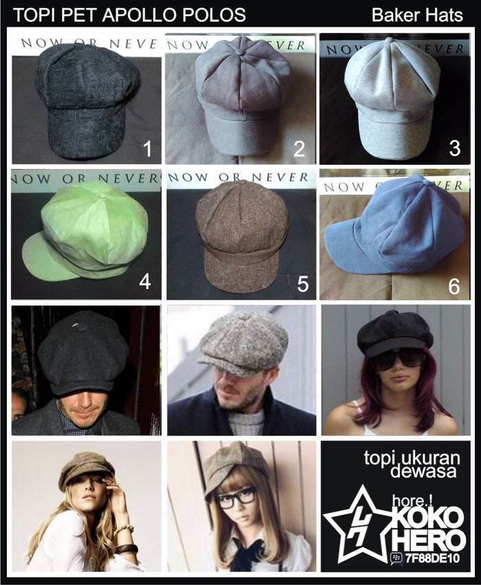harga Topi pet paper boy hat newsboy cap topipet apolo mario bros polos wk8a Tokopedia.com