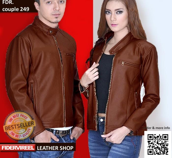 Jaket kulit hitam couple  pasangan gaul keren harga ... 93827bd381