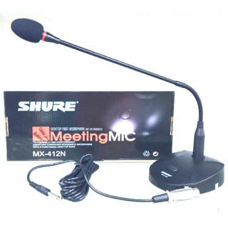 harga Murah !!! mic shure meja podiom shure mx 412 n  conference Tokopedia.com