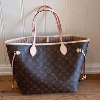 Jual preloved second tas lv neverfull mm like new ori leather louis ... 09422e1827