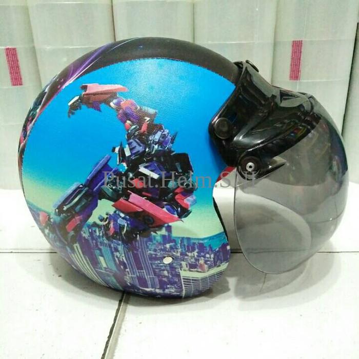 harga Helm anak retro lucu model bogo robot transformer p644 Tokopedia.com