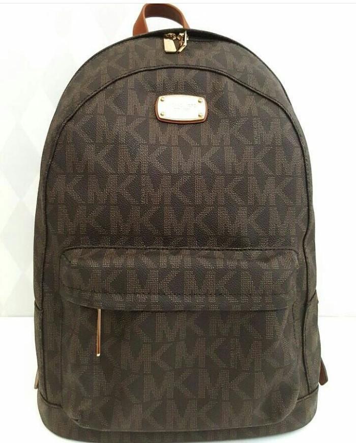 9e442417b71e ... sweden jual tas michael kors backpack brown original asli fca67 d2e11