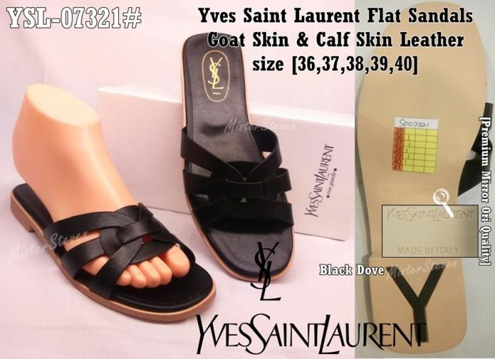 Jual SALE 50% Sandal Wanita Yves Saint Laurent Flat YSL -07320 ... 427b5bf331